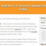 CAIR Action Alert: Urge the U.S. House to Repeal the Muslim Ban Today