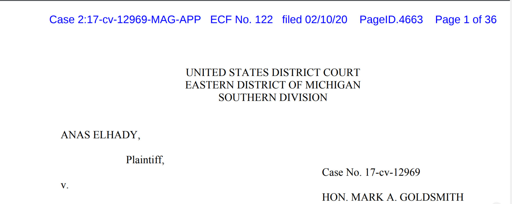 GOOD NEWS: Mich. District Court Rules that CAIR's Case Challenging Elhady Freezing Detention at Ambassador Bridge May Go to Trial