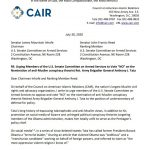 CAIR Submits Statement for Record Urging 'NO' Vote on Anti-Muslim Conspiracy Theorist Pentagon Nominee Anthony Tata