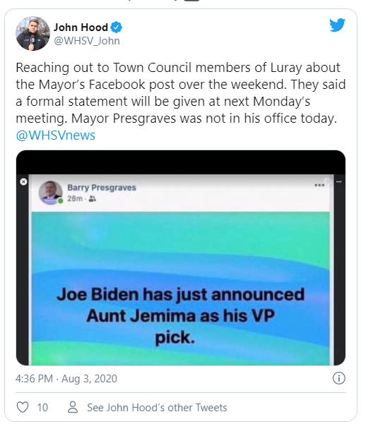 CAIR Joins Call for Resignation of Virginia Mayor Over Racist, Sexist 'Aunt Jemima' as Biden VP Pick Post