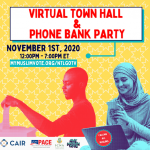 Register Now: Sunday, Nov. 1 National Muslim Voter Virtual Town Hall and Phone Bank Party
