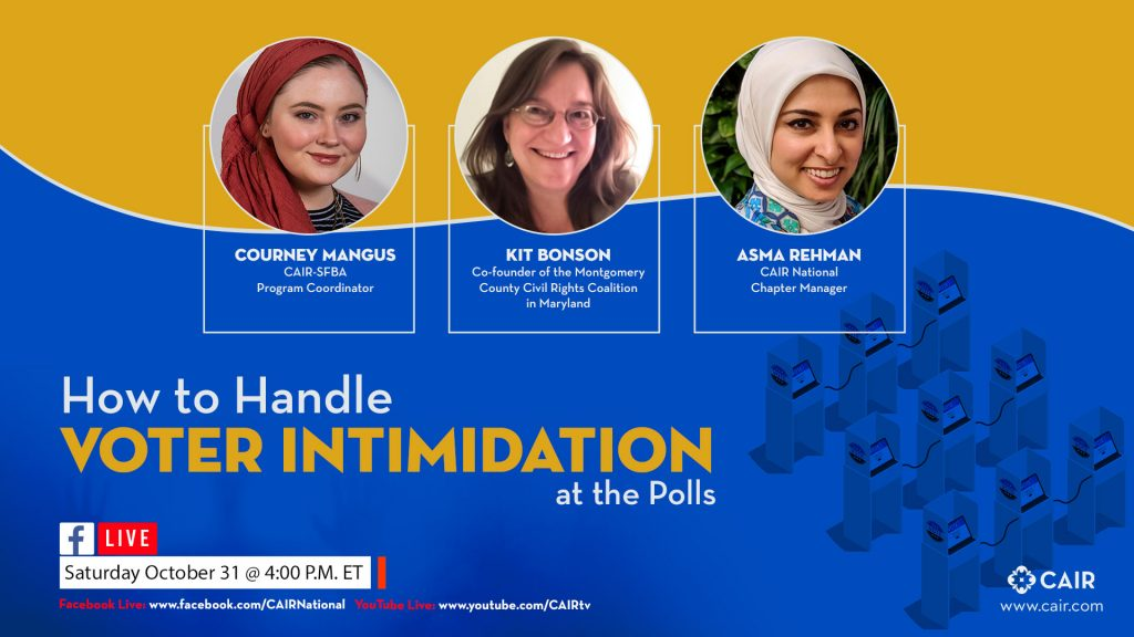Community Advisory: CAIR to Host Live 'How to Handle Voter Intimidation at the Polls' Facebook Event