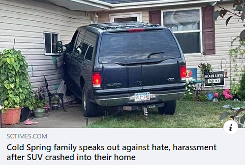 CAIR-Minnesota Calls for Hate Crime Probe of SUV Attack on Cold Spring Family's Home