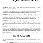 CAIR-Houston Welcomes Harris County's Eid Al-Adha 2021 Resolution