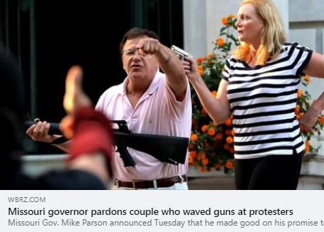 CAIR-Missouri Says Governor's Pardon of Couple Who Pointed Weapons at Peaceful BLM Protesters Encourages 'Vigilante Action'