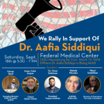 CAIR-DFW: Solidarity Rally Planned to Protest 48-days Solitary Confinement of Dr. Aafia Siddiqui After Attack