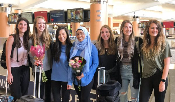Peru students return home 1